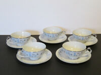 5 Sets of Seyei Shirley Fine Japan China #2159 Cups and Saucers. EUC