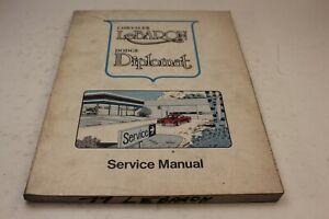 1985 DODGE DIPLOMAT Service Shop Repair Workshop Manual OEM Factory