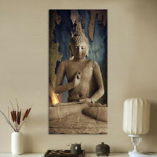 Unframed Canvas Print Painting Picture Wall Mural Stone Buddhat 60x120cm