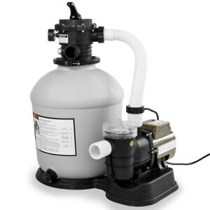 """XtremepowerUS Above-Ground Swimming Pool 16"""" Sand Filter 3100GPH .75hp Pool Pump"""