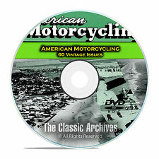 American Motorcycling Magazine, 60 Issues, 1955-1959, Americana History DVD D02