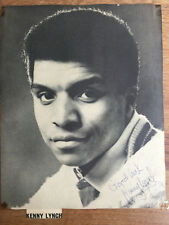 Authentic KENNY LYNCH 1963 Hand-Written Autograph