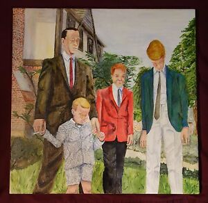 ALL OF THEM DEAD NOW BUT ME Family Portrait, Outsider Folk Art by PETER ORR