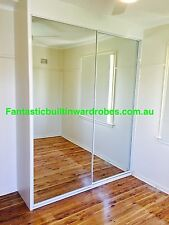 "B/N Built In Wardrobe ""DIY"" 2 Door Mirror With Interior Please Note Pick Up Only"
