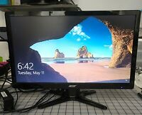 """Acer G206HL LED LCD 20"""" Widescreen Monitor DVI VGA 1680 x 900 With Stand 16:9"""