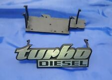 Emblem Schriftzug Turbo Diesel VW Golf 2 II Jetta Kühlergrill Grill Turbodiesel