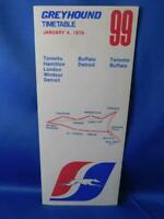 GREYHOUND BUS TIMETABLE SCHEDULE 99 JANYARY 1979 ADVERTISING TRAVEL VINTAGE