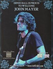 John Mayer Continuum 2007 Ernie Ball Guitar Strings ad 8 x 11 advertisement