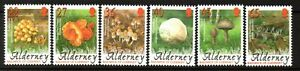 Alderney Stamps 2004 SG A223-A228 Fungi with Labels Unmounted Mint MNH