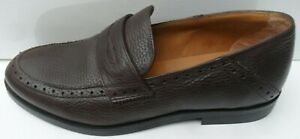 Mens New Massimo Dutti  Brown Leather Slip On Shoes - Size UK 6.5 EUR 40