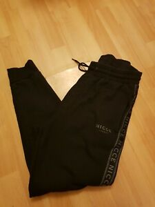 Mens black nicce joggers tapered size XL