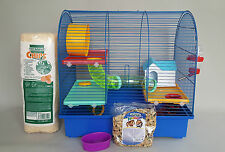 Hamster Cage Mouse With Many Accessories Water Bottle House Food Bedding Wheel