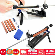 Fix-angle Knife Sharpener Professional Sharpening System Kits w/4 Stones Home US