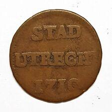 monnaie stad utrecht uit 1710 provinces-unies