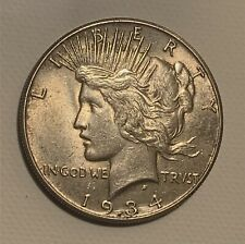 1934-S silver Peace Dollar 1$ AU rare coin