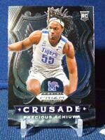 2020-21 Prizm Draft Picks Precious Achiuwa RC Rookie #88 Crusade Memphis Tigers