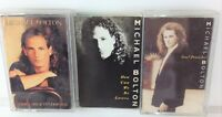 Lot of 3 Vintage MICHAEL BOLTON Cassette Tapes - Soul Provider, Time, How Can We