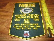 PACKERS SUPER BOWL CHAMPIONS  BANNER PATCH 7 INCHES IRON ON