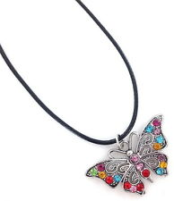 Butterfly Necklace Crystal Pendant Fashion Jewelry Gift