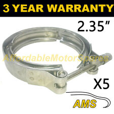 """5x V-BAND Esterno Morsetti in acciaio inox tubo di scarico Turbo 2.35"""" 60mm"""