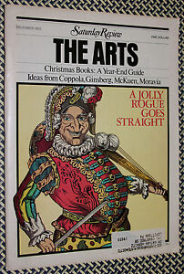 VINTAGE SATURDAY REVIEW of the ARTS, ALLEN GINSBERG, Punch & Judy, Larry Clark