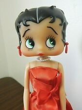 "Betty Boop 12"" 2006 Vinyl Doll in Red Satin Dress"
