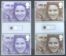 GB TRAFFIC LIGHT GUTTER PAIR FINE UNMOUNTED MINT. 1973 ROYAL WEDDING CAT £110