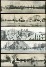 LONDON c1905 PANORAMIC CARDS HIGHGATE FINSBURY...5 DIFFERENT...L2