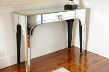 Casablanca Premium Quality Mirrored Console table with One Drawer Beveled Glass