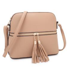 Womens Handbags Faux Leather Crossbody Messenger Shoulder Bag Medium Day Purse