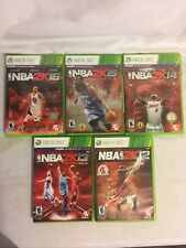 NBA 2K12-16 Xbox 360 5 Game Lot