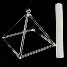 "Quartz Crystal Singing Pyramid D Note Sacral Perfect Relax 6""+ Suede Mallet"