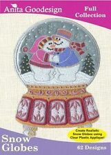 Anita Goodesign Snow Globes Embroidery Machine Design CD
