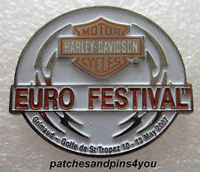 Harley Davidson St.Tropez Euro Festival 2007 Pin NEW! FREE U.K. POSTAGE!