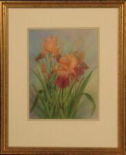 "Anna Chen Pencil Signed Still Life Floral Print : ""Fancy Irises"""