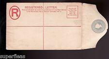 1888 Barbados MNH unused Registered Letter envelope Embossed by Thos. De La Rue