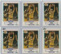 1990 Fleer Vlade Divac RC #91 Basketball 6X LOT SHARP CORNERS HOF