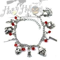 Horror Movie Charm Bracelet Gift Chuckie Pennywise Ghostface Halloween Creepy