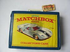 Lesney Matchbox Cars, Hot Wheels, etc.- 45 cars-Vintage Matchbox collectors case