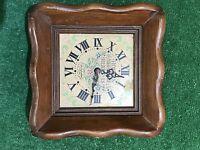 Vintage New England Clock Company Wall Clock Wood Rare Fast Free Shipping