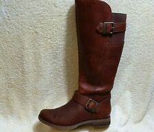 Timberland Savin Hill Buckle Ladies Knee High Boots Leather Brown UK 3.5 EUR 36