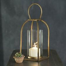 "CTW Small Boho Modern Industrial Style Tribeca Candle Holder Lantern 12"" Tall"