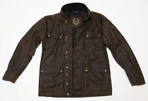 Men's $795 Belstaff Explorer Jacket Olive Waxed Cotton Size IT 48 US Medium M