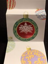 Holiday Ornaments PopShots 3-D Pop-Up Snowflake Christmas Card Lot of 9 New