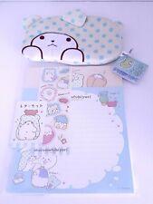 Sanrio Marumofubiyori Bear Letter Set and Plush Pouch Keychain Bundle - NEW