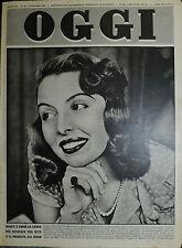 OGGI N°18/ 3/MAG/1951 * NANCY CLARK BARTELSEN MASSERONI LA CANTANTE DI BOSTON