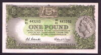 Australia R-34. (1961) One Pound.. Coombs/Wilson.. Reserve Bank... UNC