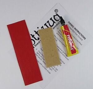 Opttiuuq Cricket Bat Repair Kit 1 Toe Guard Set Glue Fixing Guide -1- Red