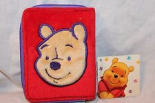 NEW WITH TAG WINNIE THE POOH KIDS ZIPPERED WALLET  RED