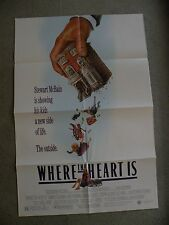 Where the Heart Is Dabney Coleman 1990 27X41 originial 2-sided movie poster